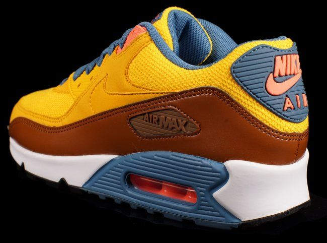 meet aea9c 6dea1 Nike Air Max 90 Essential – University Gold   Cognac