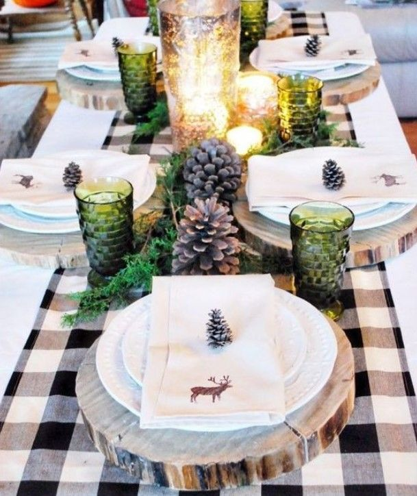 Original Winter Table Décor Ideas It's time of some of our favorite kinds of sport like skiing or snowboarding. Winter will come soon, maybe the next month to some of places, so the question of winter table   #tablesetting