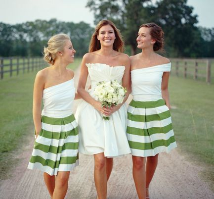 Such fun bridesmaid dresses