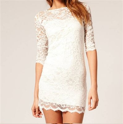 3/4 Lace Mini Dress Price: ($25.95) Qualifies for Free Shipping