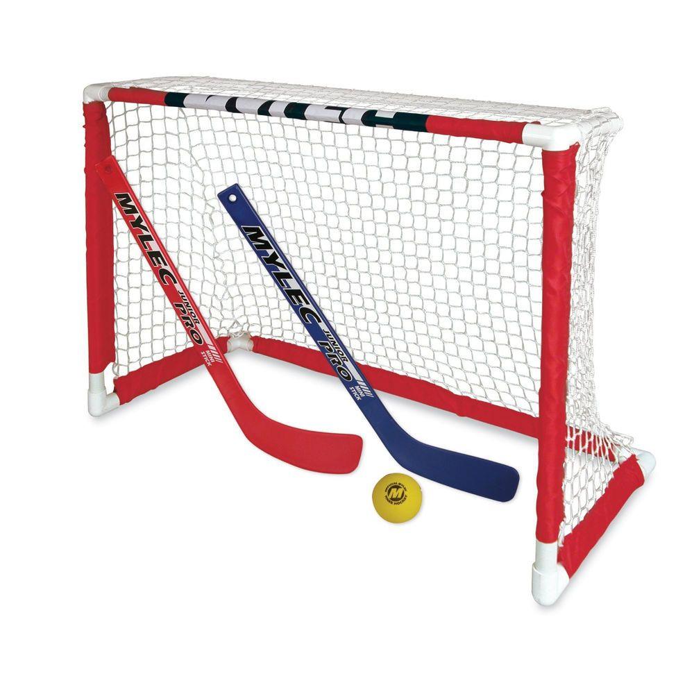 Mini Hockey Goal Net Set 2 Sticks Foam Ball Indoor Outdoor Kid Toy Child Small Hockey Goal Outdoor Toys For Kids Hockey Kids