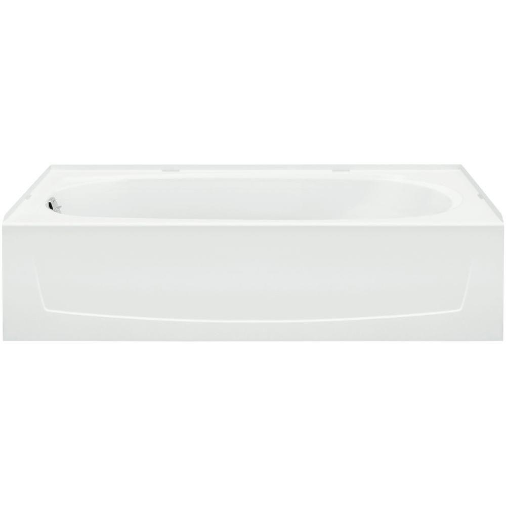Sterling Ensemble 5 Ft Left Drain Bathtub In White 71171110 Lnr 0