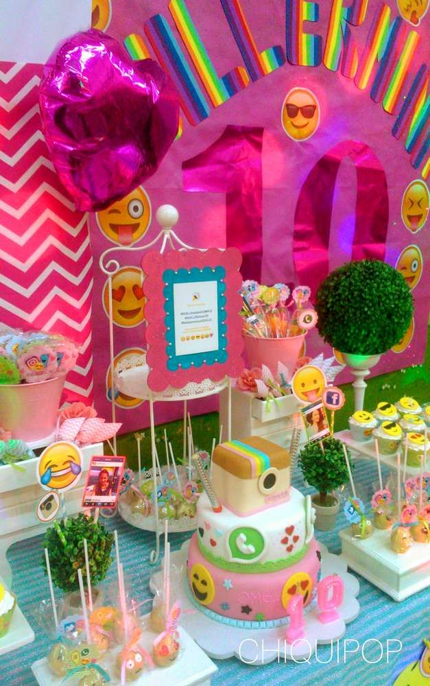 You Have To See This Amazing Emoji Birthday Party More Ideas At CatchMyParty