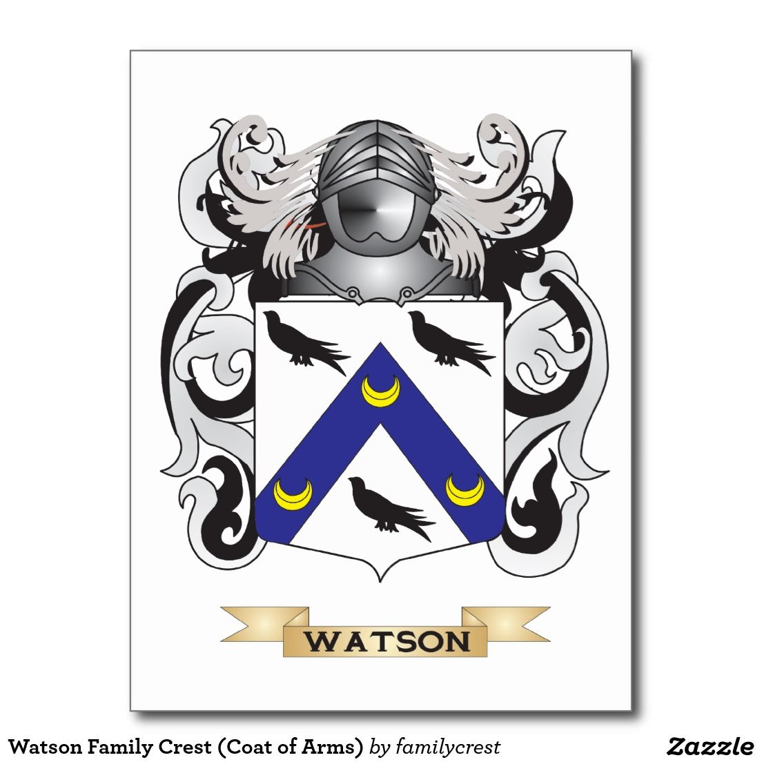 Watson family crest coat of arms postcard arms watson family crest coat of arms postcard biocorpaavc