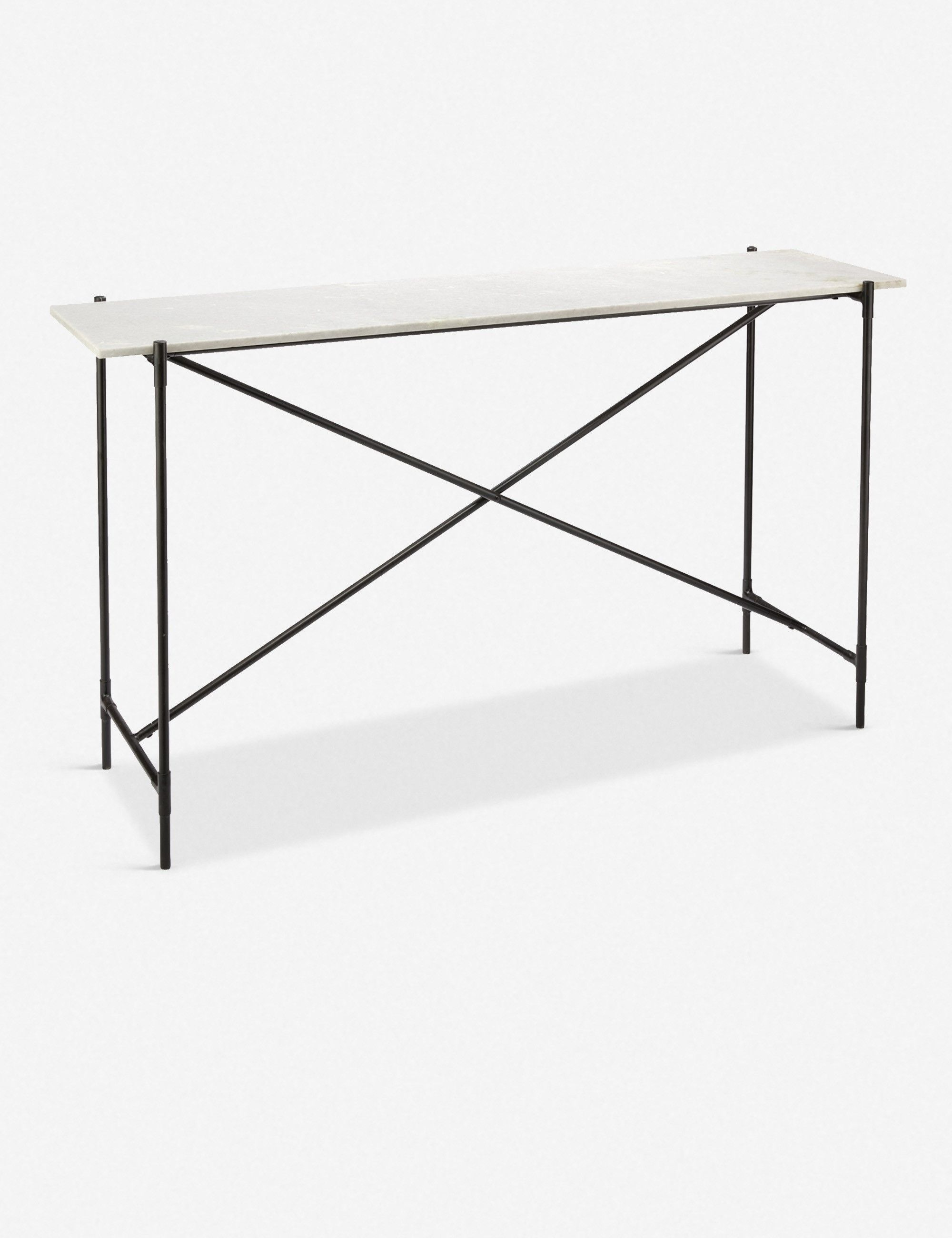 Photo of Selia Console Table, White Marble