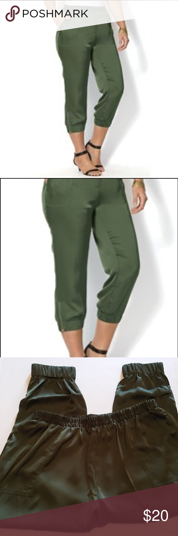 plus size satin midcalf joggers polyester satin joggers and