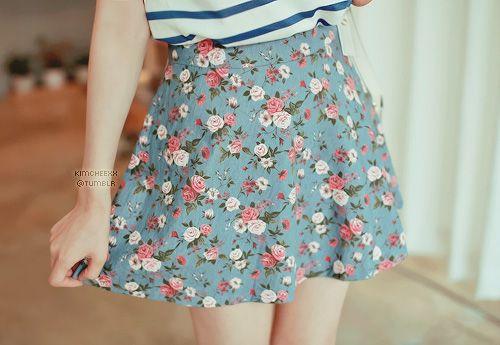 Floral skirt