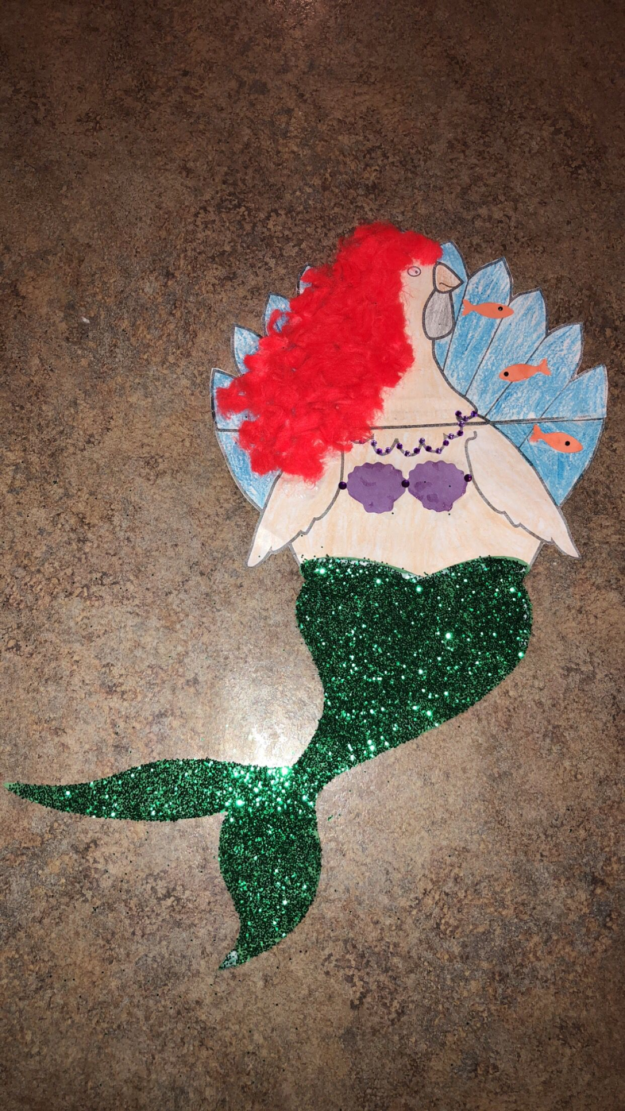 Disguise Turkey Project -   14 mermaid turkey disguise project ideas