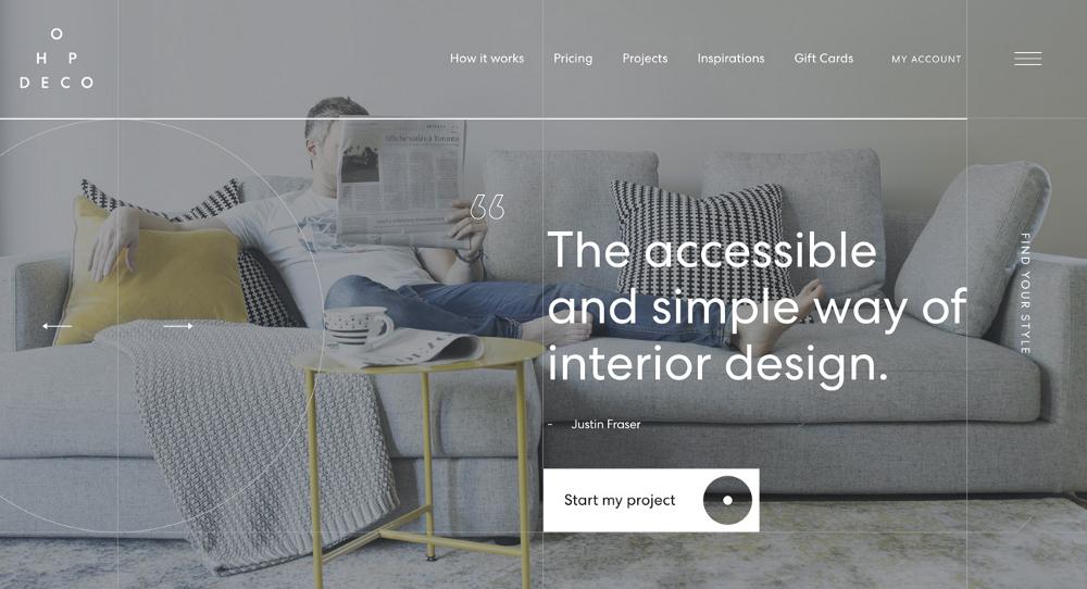 9 Most Stunning Ecommerce Websites Published Lately For Design Inspiration Online Interior Design Services Interior Design Website Online Interior Design