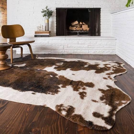 Fake Cowhide Rug Animal Skin Carpet