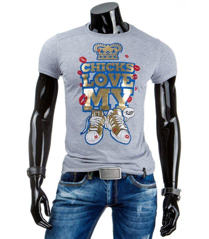 9a071d51aef08 Vynikajúce pánske tričko s krátkym rukávom. Vyrobené z mäkkého, na dotyk  prijemného materiálu. Originálna potlač. Pohodlný strih.
