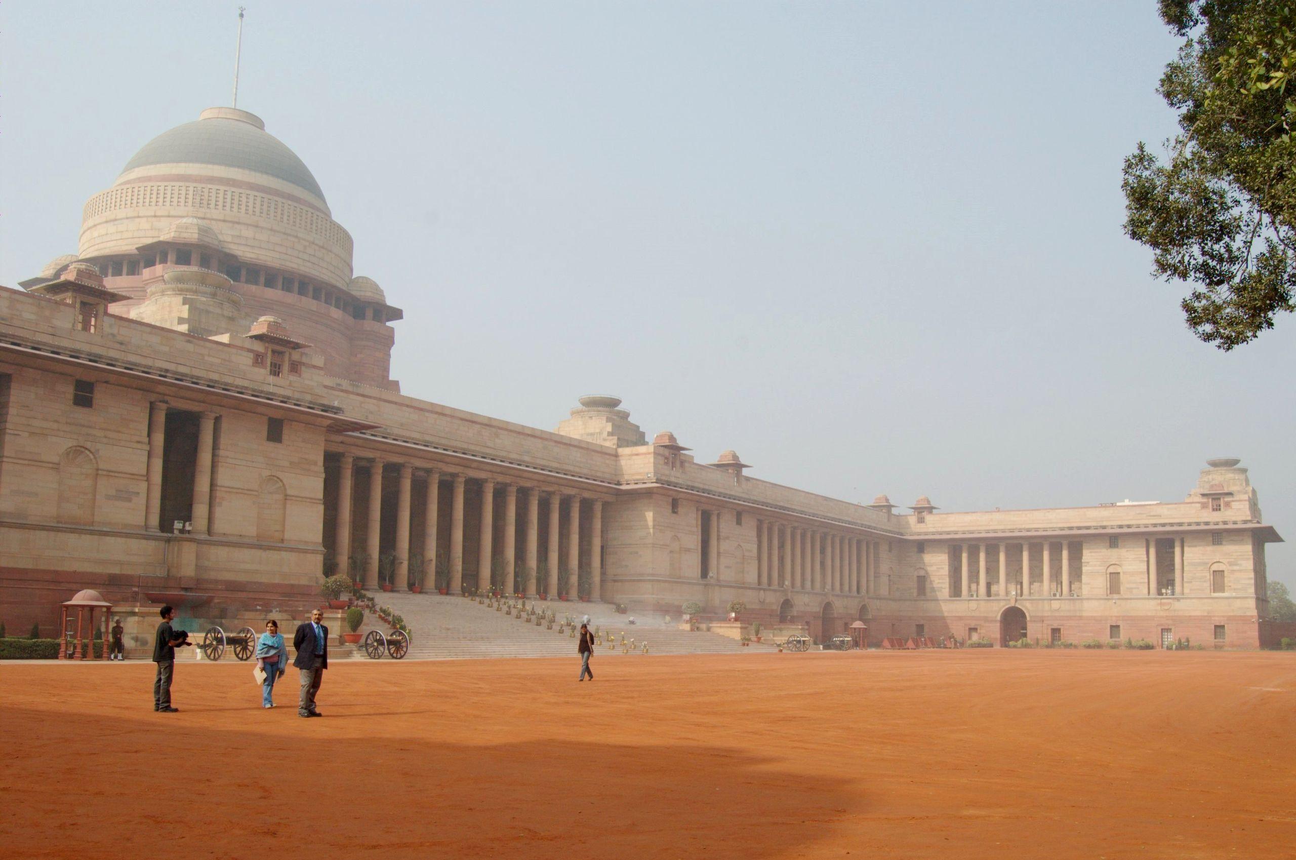 Rashtrapati Bhavan Wide New Delhi India Edwin Lutyens