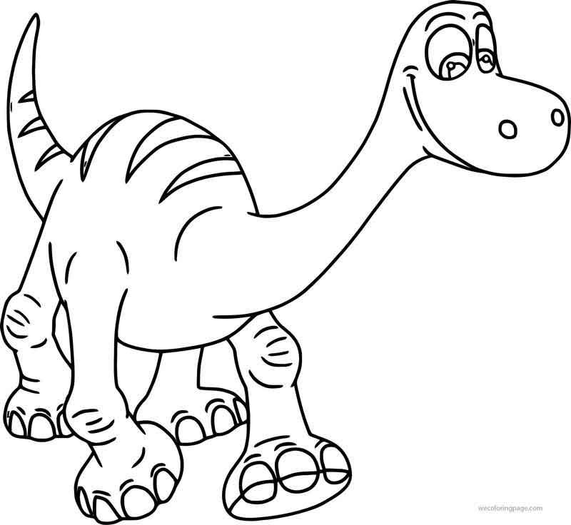 The Good Dinosaur Disney Arlo 2 Cartoon Coloring Pages Di 2020