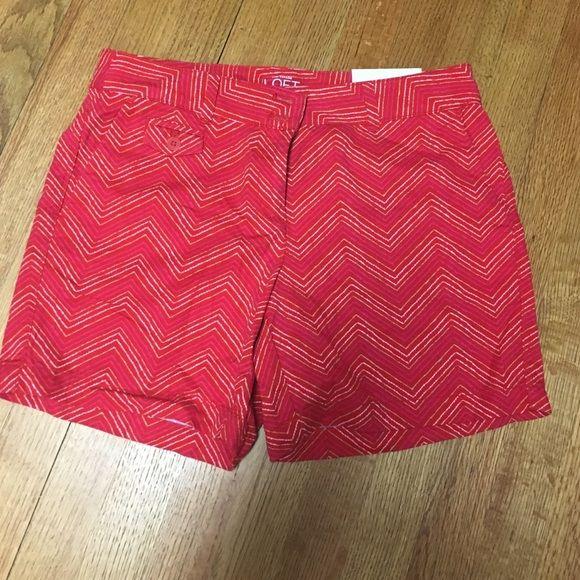 Chevron shorts Brand new!! Perfect condition! LOFT Shorts