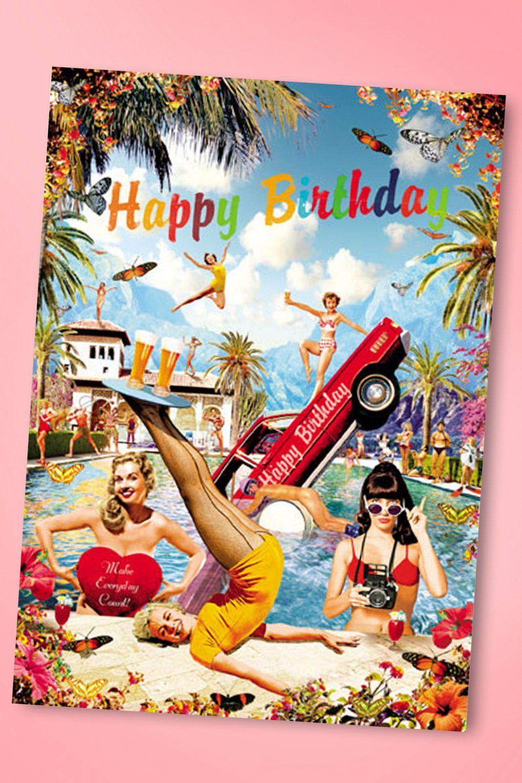Betty Knows Best 50s Retro Fun Happy Birthday Greeting Card