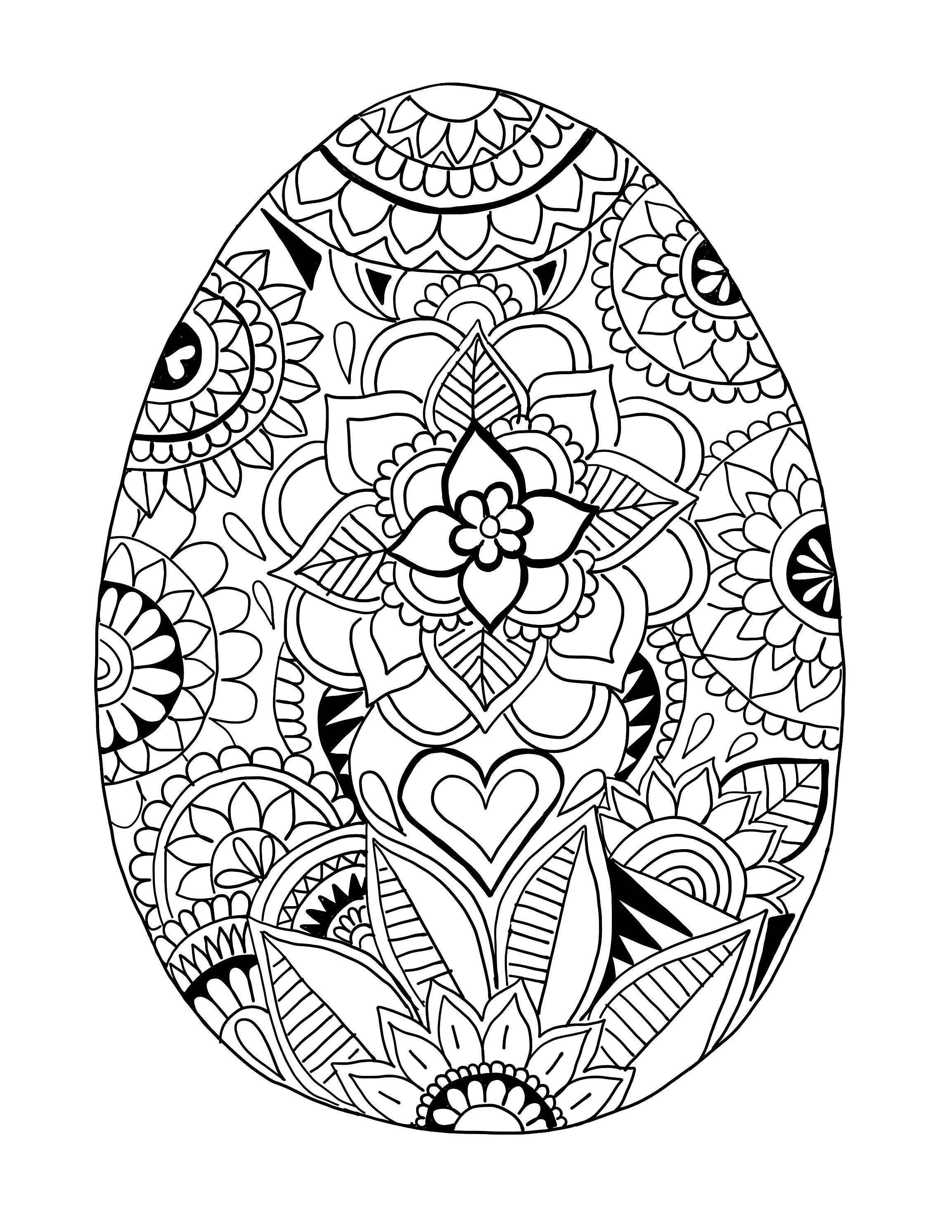 Easter Egg Coloring Page Easter Egg Printable Coloring Page Ooly