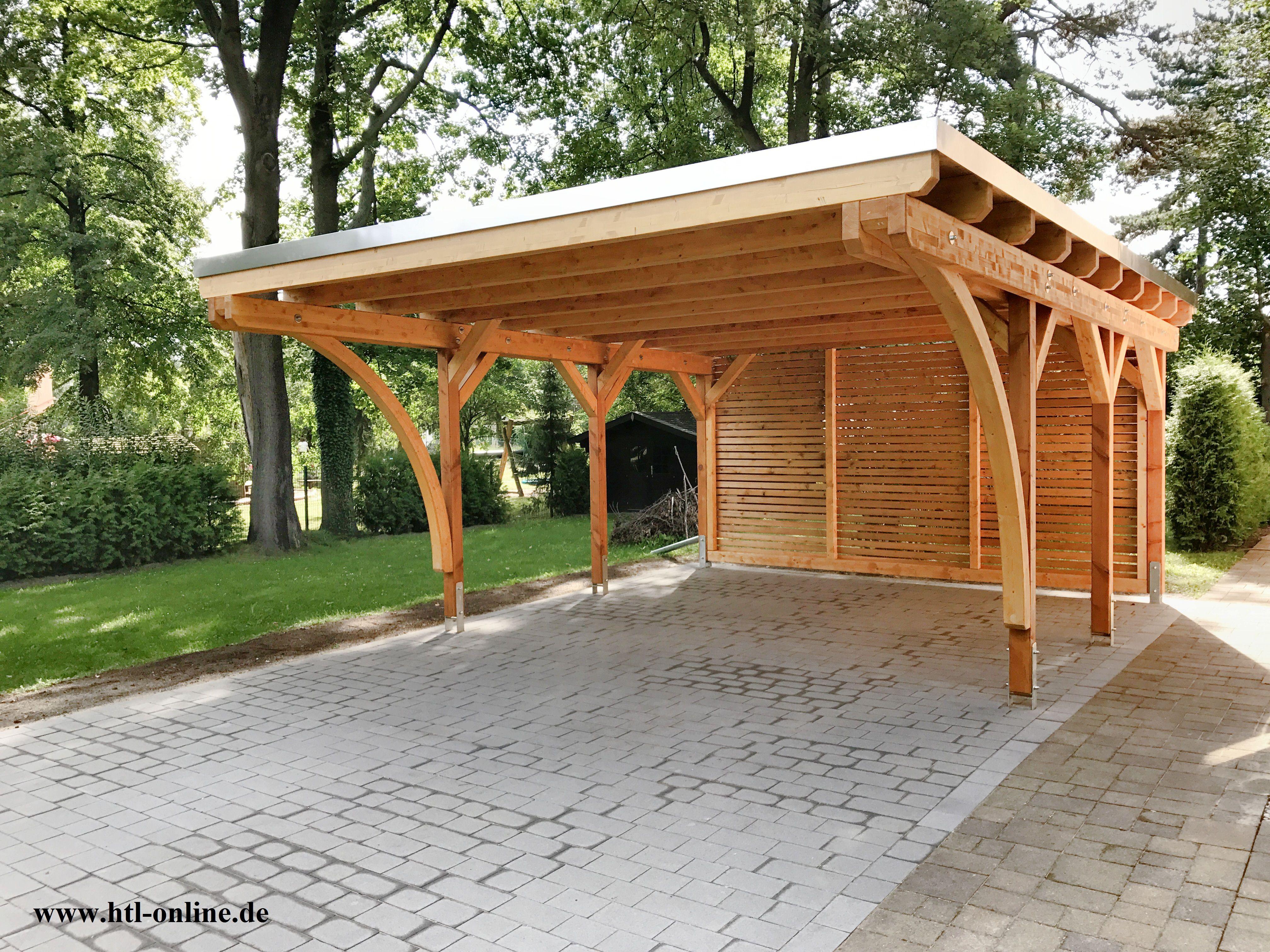 Carport Aus Holz Htl Holztechnik Holz Arbeit Mit Holz Carport Aus Holz Carport Holz Carports Carport