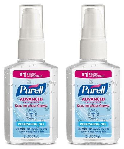 Purell Advanced Instant Hand Sanitizer 2 Ounce Pump Bottle Hand