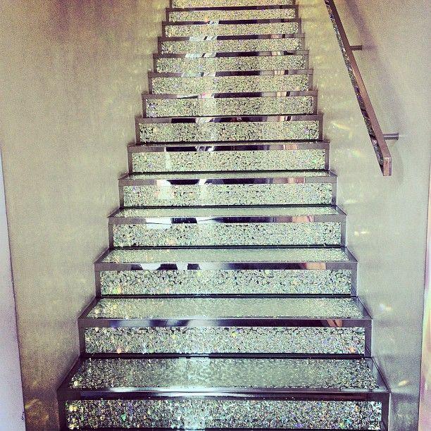 swarovski stairs {photo by diana la counte}