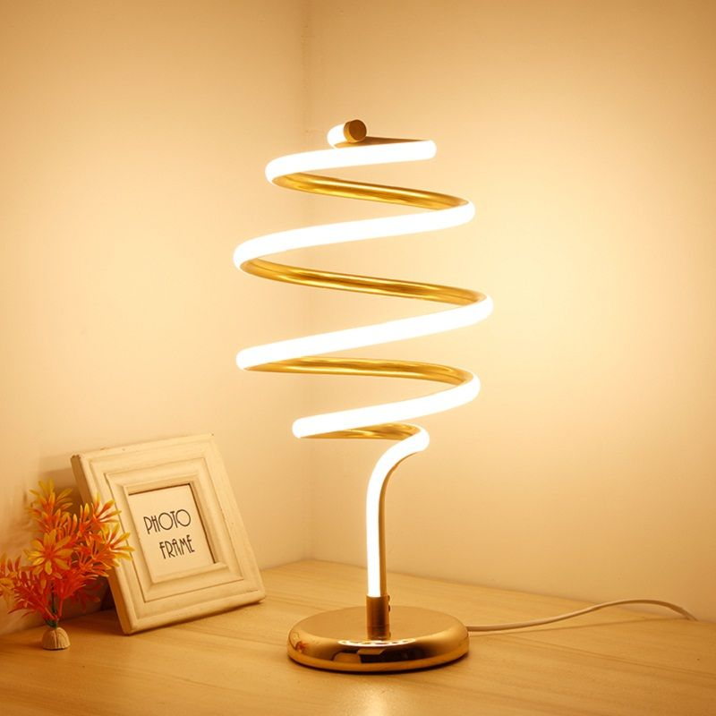 Modern led table desk lamp for the bedroom living room schoolchildren gold white lamps design bedside table night light fixture