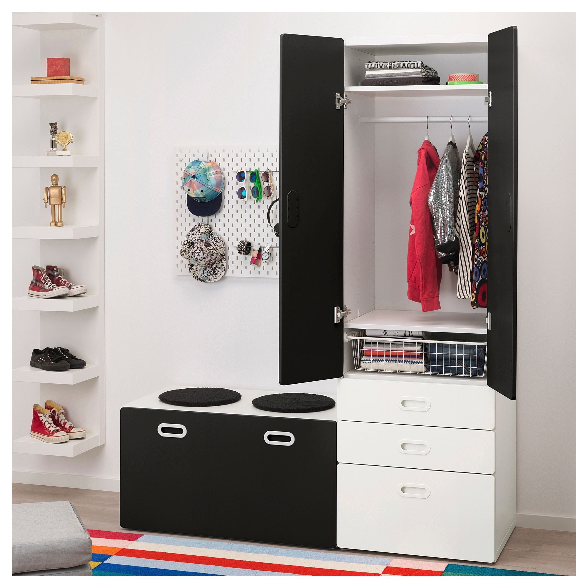 Admirable Ikea Stuva Fritids Wardrobe With Storage Bench White Gmtry Best Dining Table And Chair Ideas Images Gmtryco
