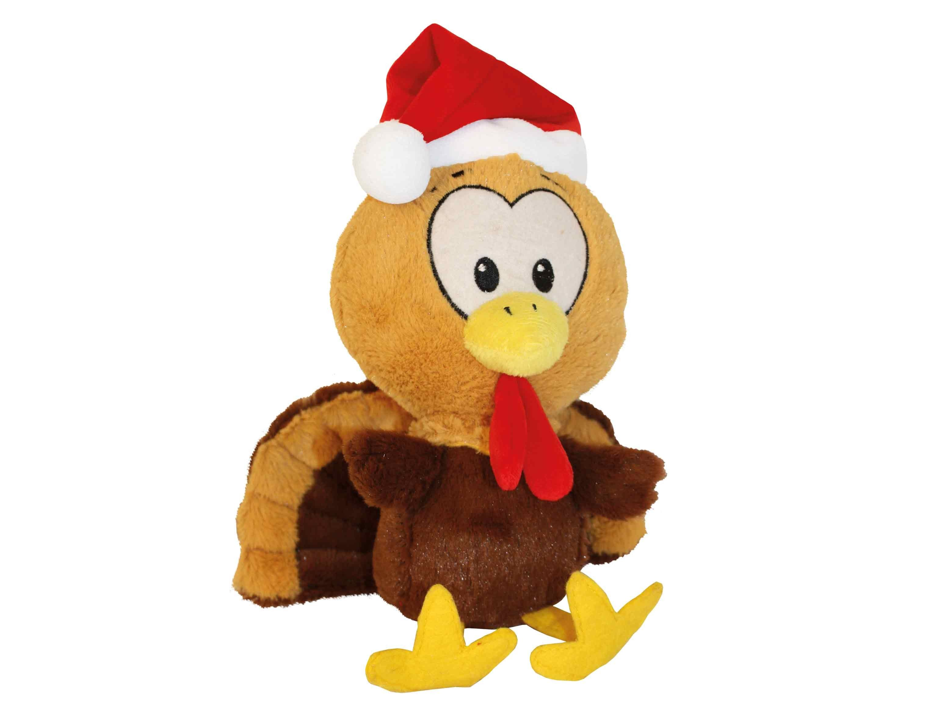 The Tommy Turkey Is A Cute Super Soft Plush Christmas Dog Toy With