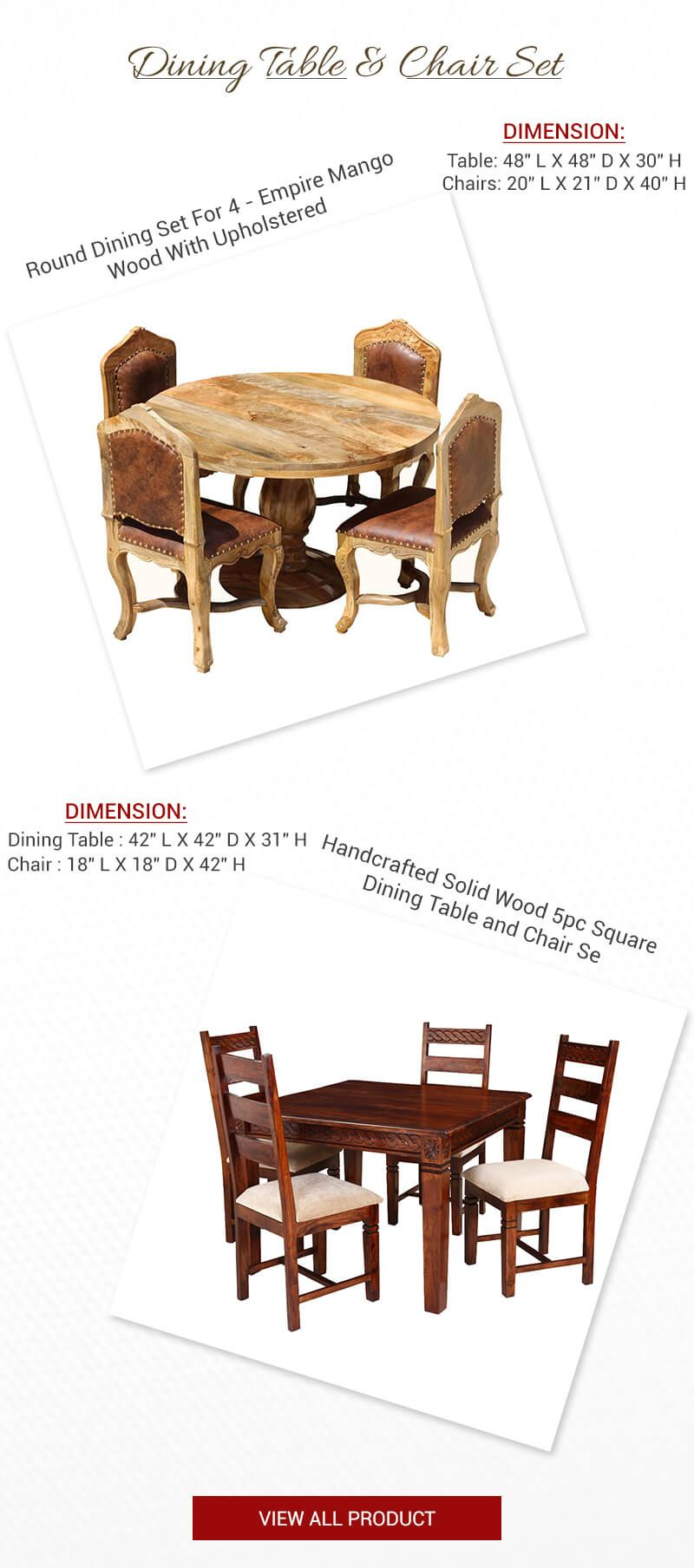 Small round kitchen table  Looking for Small Space Explore More Dining Set as per your Home