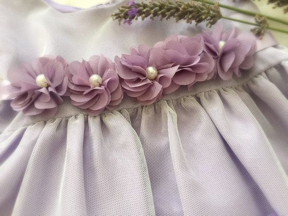 Lavender Field of Flower Baby Girl Dress Tulle and por PurdyGurly