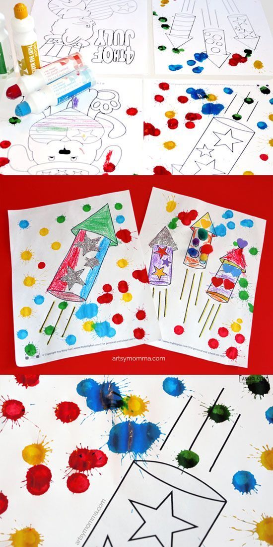 Super Easy 4th of July Coloring Page Crafts Craft, Super easy and - new 4th of july coloring pages preschool