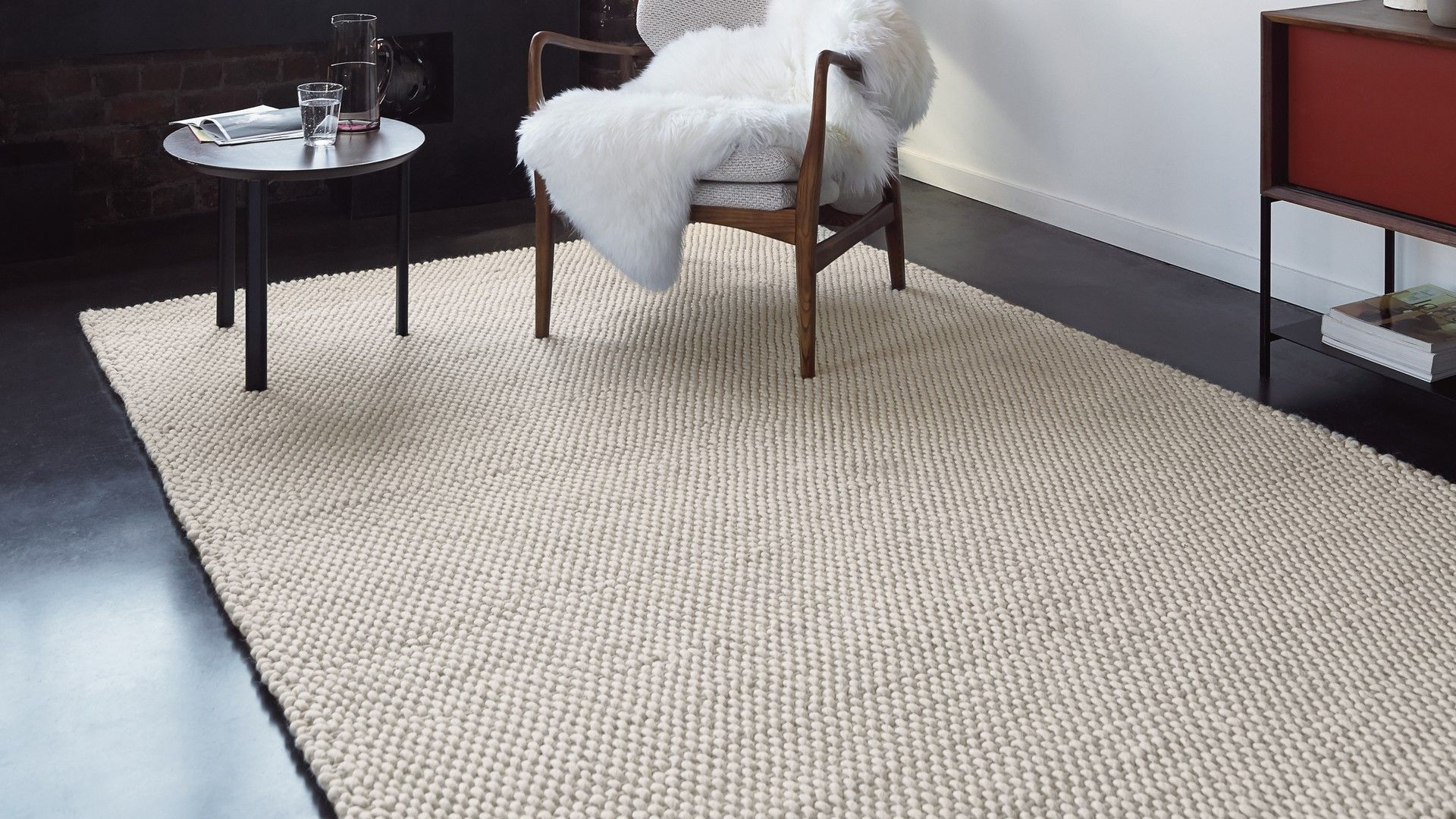 Salon Laine Contemporain Tapis Contemporain Tapis Cr Me Knit | Tapis-moquette