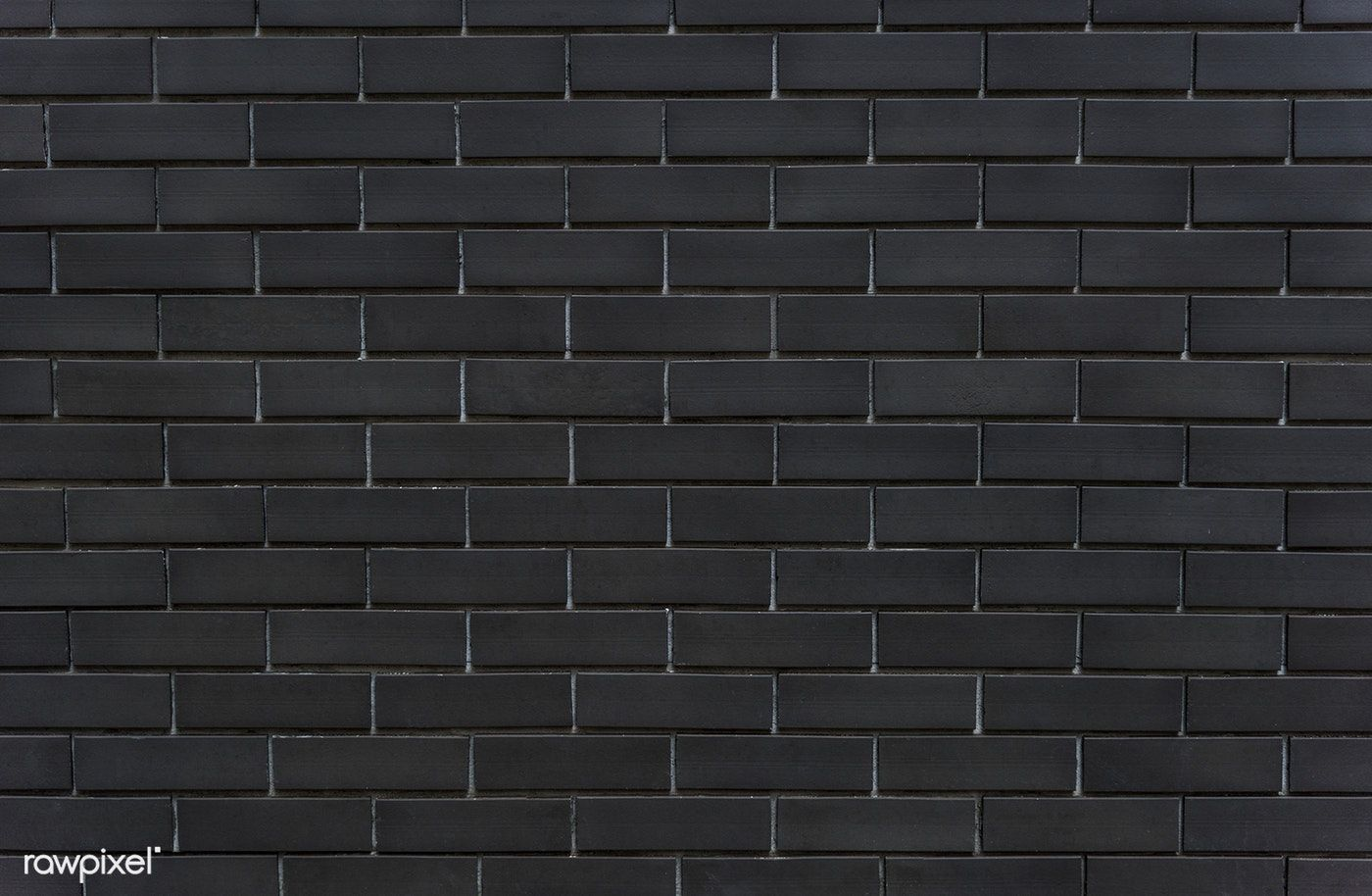 Black Brick Wall Textured Background Free Image By