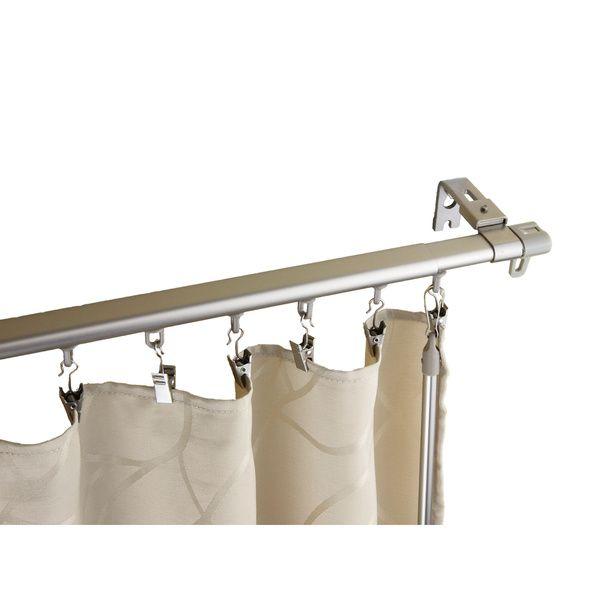 Rod Desyne 120 In To 170 In Black Steel Single Curtain Rod 100 01