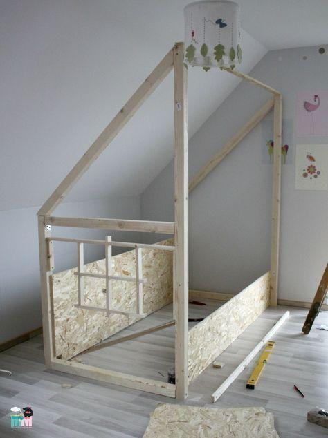 DIY - Ein Hausbett im Kinderzimmer - #chellisrainbowroom - Metterschling und Maulwurfn