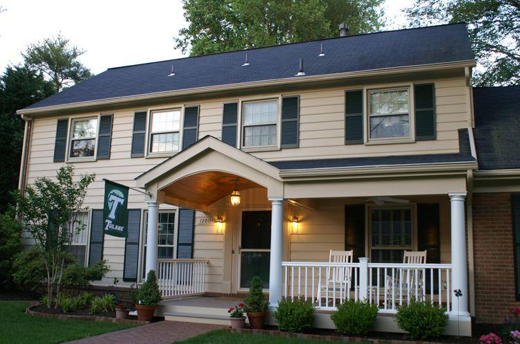 Portico Porch Small Colonial Google Search Railing Designs Front Railings House