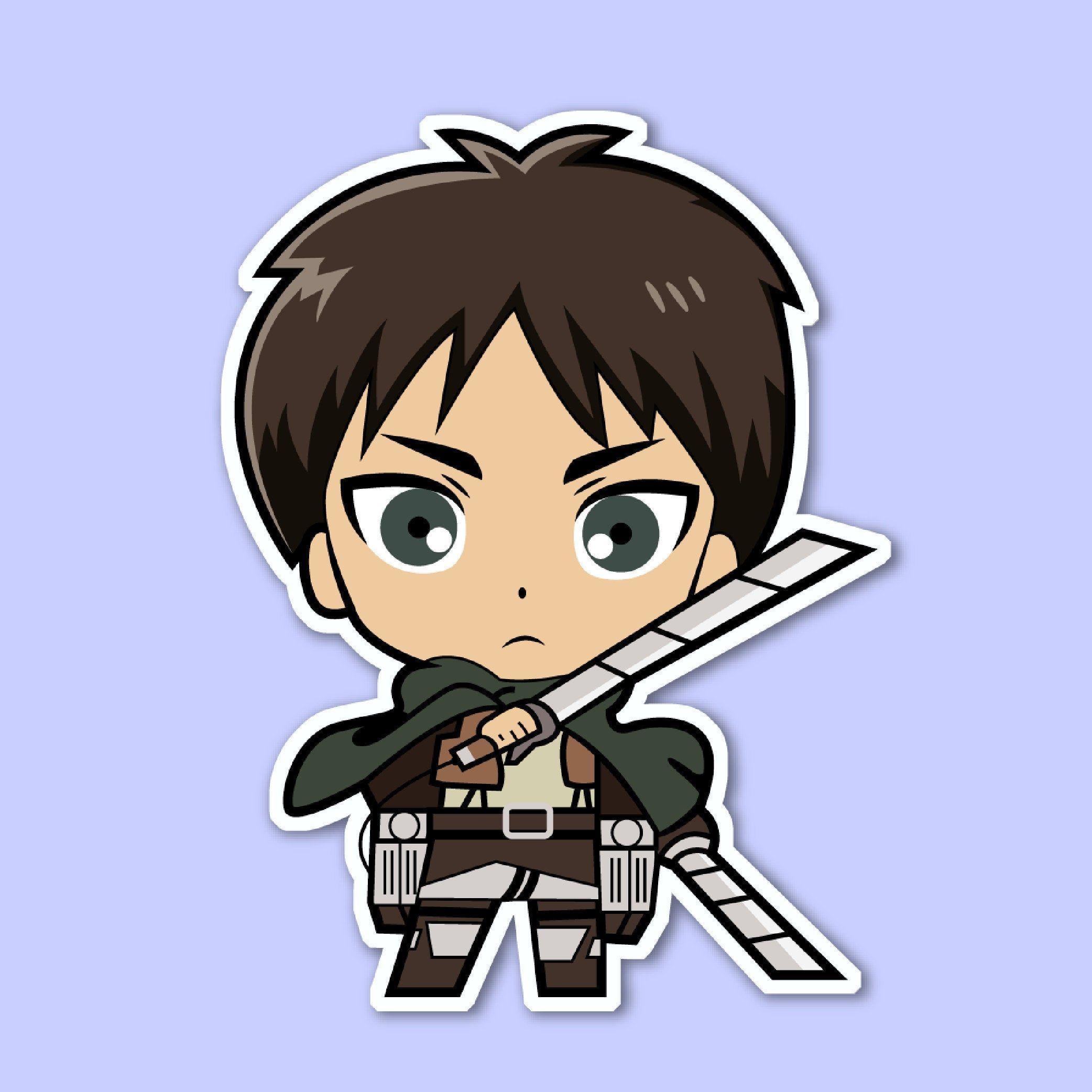 eren yeager sticker attack on titan anime stickers