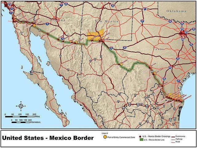 TODO lo que necesitas saber sobre la frontera entre México y Estados Unidos