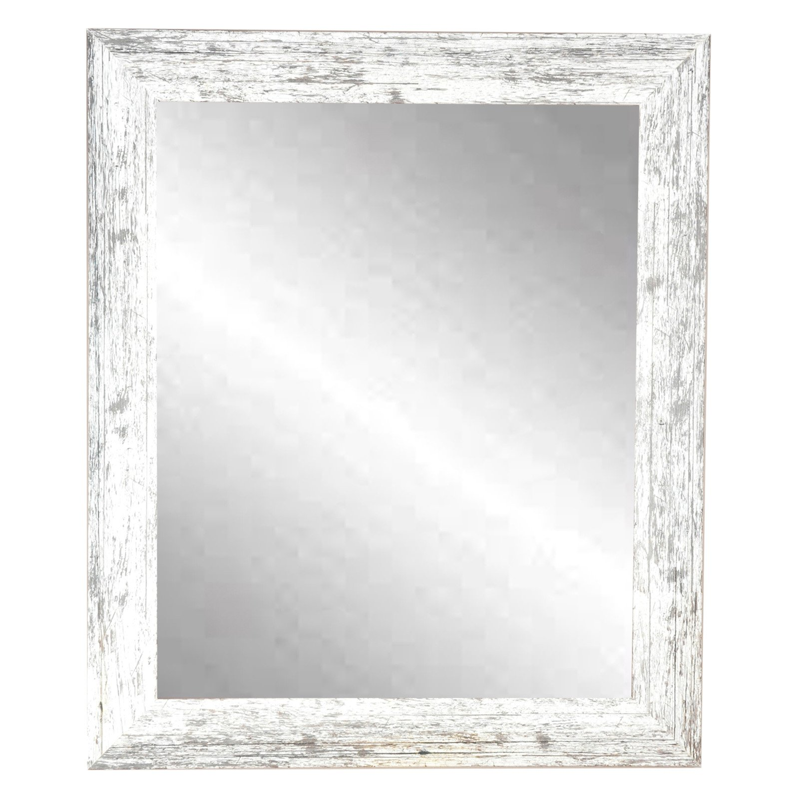 Brandtworks American Value Distressed White Wall Mirror Mirror Wall White Wall Mirrors Framed Mirror Wall
