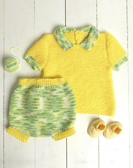 Passioknit Spring Baby Set Free Knitting Pattern For Baby Top And
