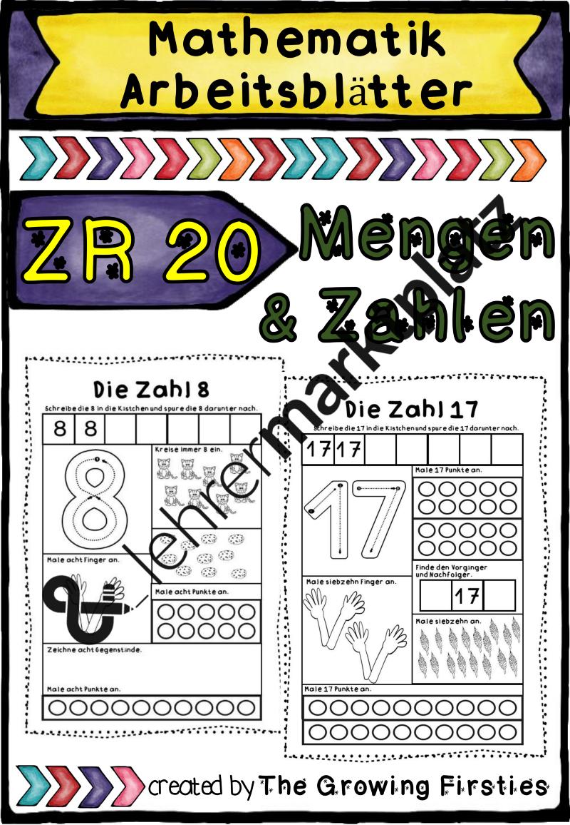 ZR 20 - Mengen & Zahlen - Arbeitsblätter – Mathematik | Mathe in der ...