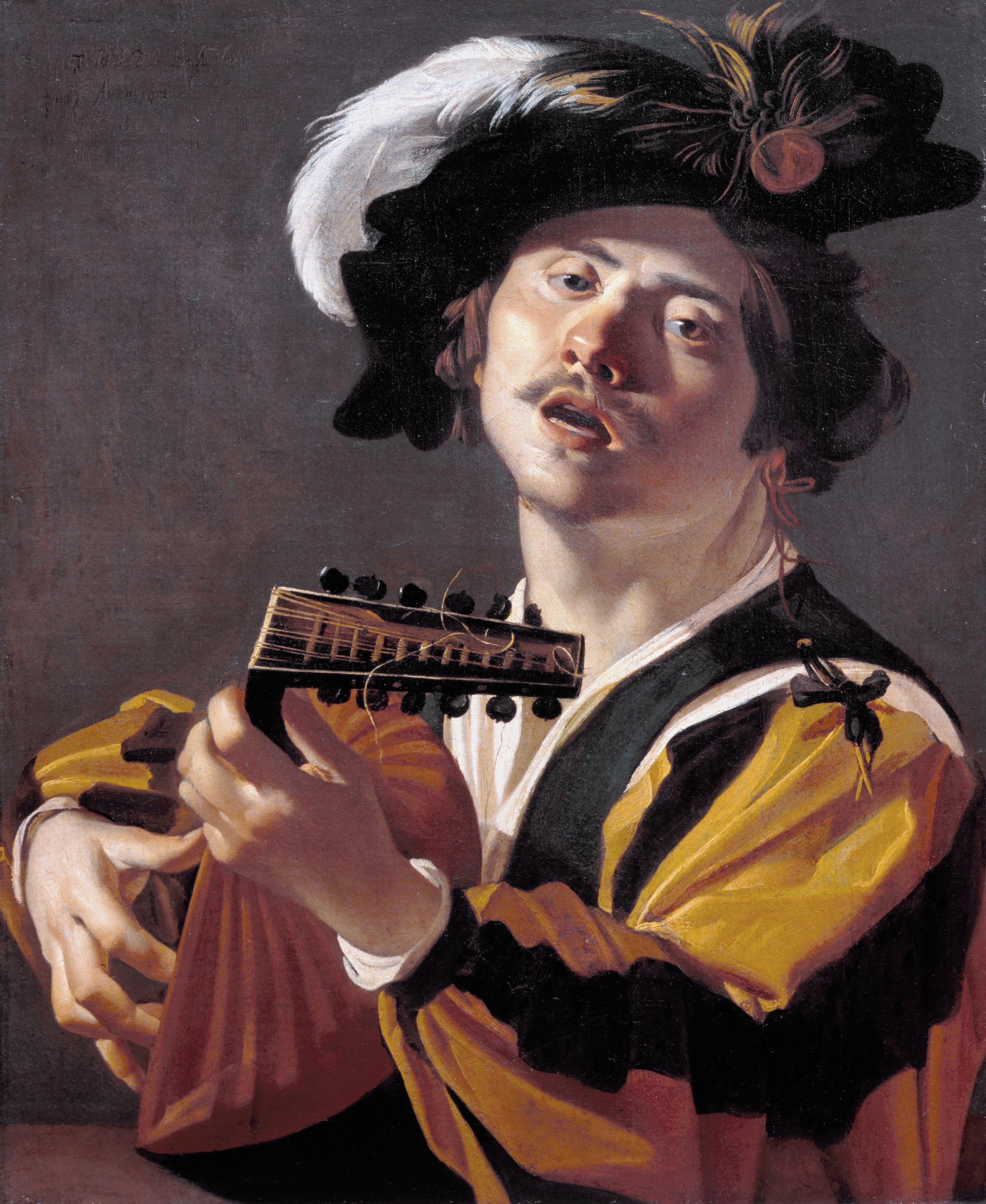 Dirck Van Baburen De Luitspeler 1622 Lute Google Art Project Art