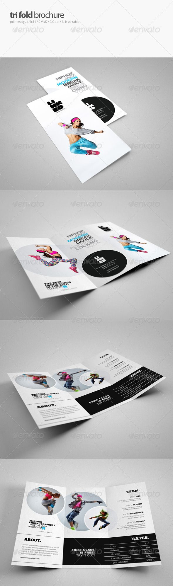 Dance Studio Brochure   Dance Studio Brochures And Print Templates
