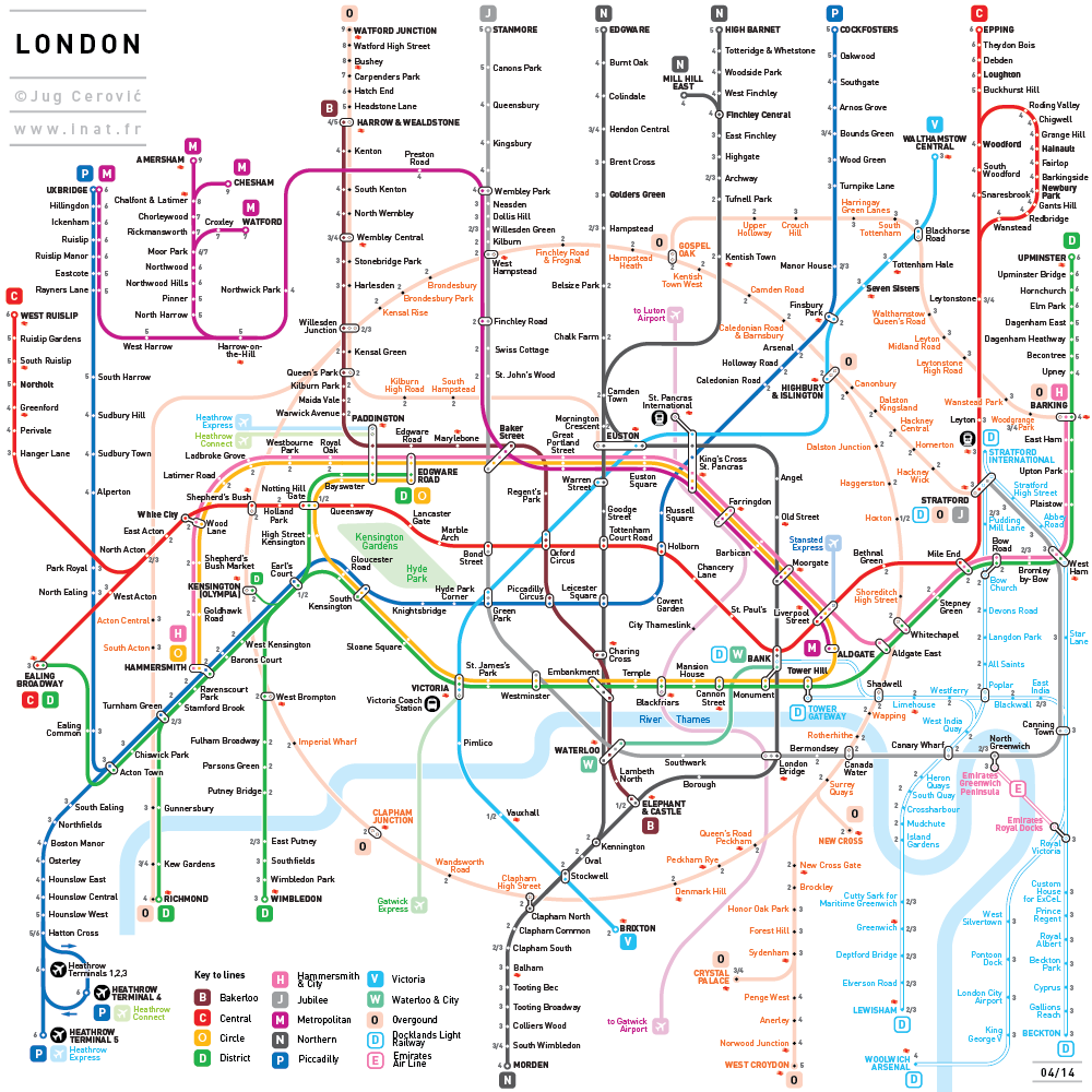 inat is a mapping standard developed by french serbian architect jug cerovic offering easy to read london maplondon tube