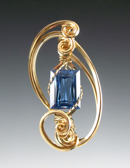 Wire-wrapped pendant with rectangular faceted stone | Wire Wrapped ...