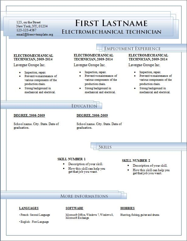 Resume Templates Microsoft Word Free Download Want a FREE - sample resume microsoft word