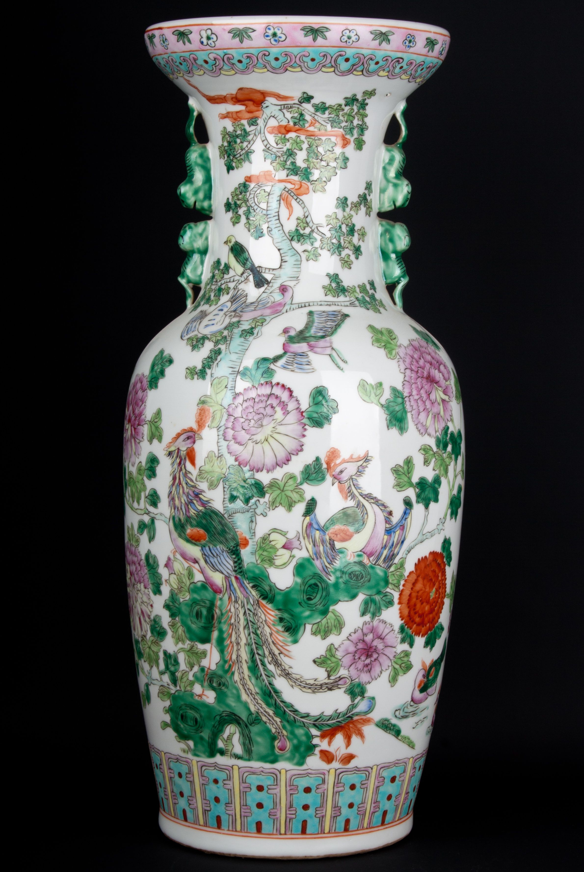 Description A Large Chinese Baluster Vase In Early 19th Century