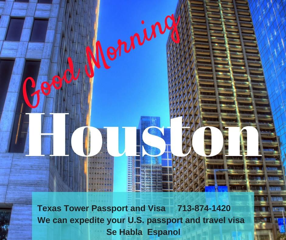 Good Morning Houston! If your travel plans including
