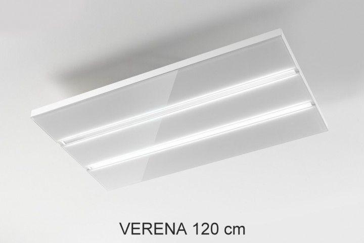 Pauen Umluft Deckenlüfter Verena Glas weiss LED Stripes Maß 120 x - dunstabzugshauben für küchen