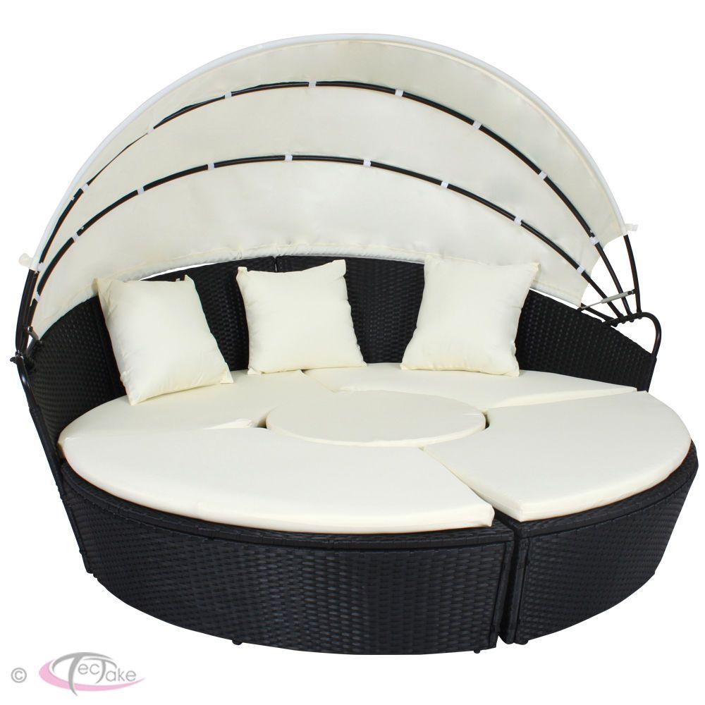 - Rattan Day Bed Garden Furniture Outdoor Lounger Patio Sofa Sun