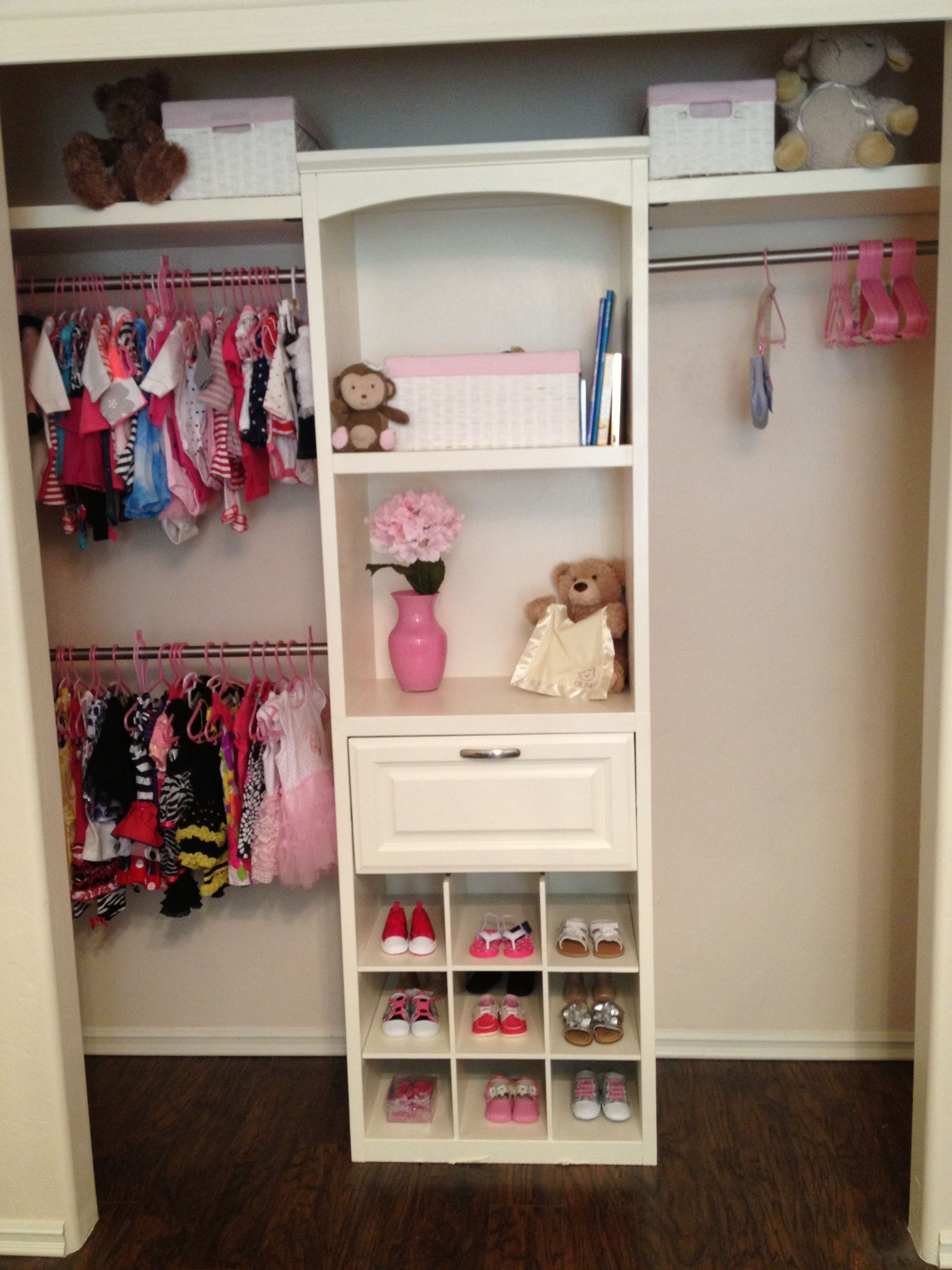 Baby Girls Closet Bought Closet From Lowes U0026 Had To Do A Little Cutting To  Make