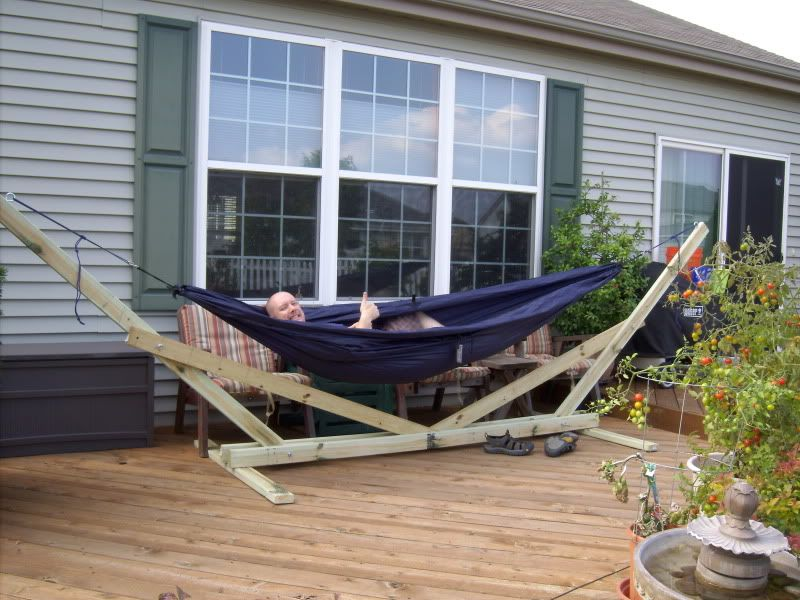 blue wooden outdoor eno hammock stand designs